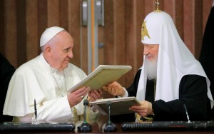Catholic Pope and KGB Patriarch get together