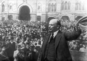 Lenin addressing a crowd